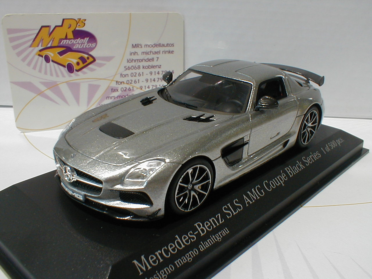 minichamps 437033024 mercedes benz sls amg black series grau metallic 1 43 ebay. Black Bedroom Furniture Sets. Home Design Ideas