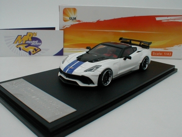 "GLM 43200002 # Chevrolet Corvette Widebody DarwinPRO Black Sails "" weiß "" 1:43"