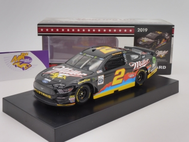 "Lionel Racing CX21923DMBW # Ford NASCAR Serie 2019 "" Brad Keselowski - Miller Lite Darlington Throwback "" 1:24"