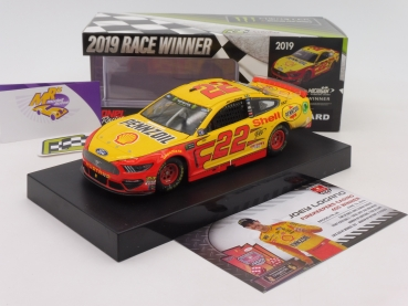"Lionel Racing W221923SHJLQ # Ford NASCAR Serie 2019 "" Joey Logano - Shell-Pennzoil Michigan Winner "" 1:24"