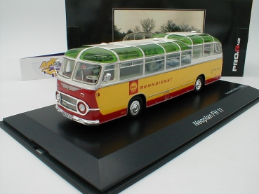 "BLACK-Deal ###  Schuco 08965 # Neoplan FH 11 Bus in gelb-rot als "" Shell Renndienst "" 1:43"