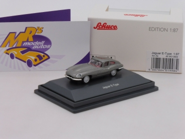 "Schuco 26398 # Jaguar E-Type Coupe Baujahr 1974 ""in  graumetallic "" 1:87"