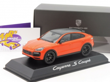 "Norev WAP0203180K # Porsche Cayenne S Coupe Baujahr 2019 in "" orange "" 1:43"