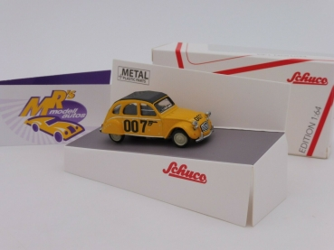 "Schuco 20166 # Citroen 2 CV Ente in gelb als "" James Bond 007 "" 1:64"
