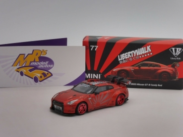 "TSM MGT00077-L # Nissan GT-R R35 Type 1 Candy Red "" Liberty Walk "" 1:64"