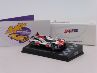 "Spark 87LM18 # Toyota TS050 Hybrid No.8 24h LeMans 2018 "" Buemi - Alonso "" 1:87"
