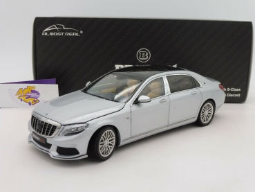 "Almost Real 860103 # BRABUS 900 Mercedes-Maybach S-Klasse Baujahr 2018 ""silbermetallic "" 1:18"