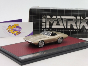 "Matrix 50603-041 # Ford XP Bordinat Cobra Concept Cabriolet Baujahr 1965 "" goldmetallic "" 1:43"