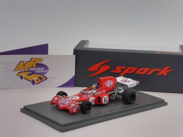 "Spark S7166 # March 721X Race of Champions 1972 "" Ronnie Peterson "" 1:43"