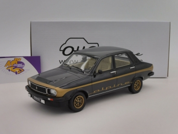 "Ottomobile OT336 # Renault R12 Alpine Baujahr 1978 in "" schwarz-gold "" 1:18"