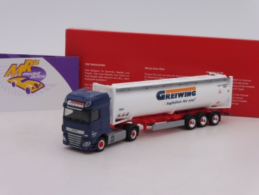 "Herpa 312004 # DAF XF SSC Euro6 40 ft. Drucksilocontainer-SZ "" Spedition Greiwing "" 1:87"
