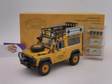 "Almost Real 810213 # Land Rover Defender 90 "" AMEL Trophy Edition - Borneo 1985 "" 1:18"