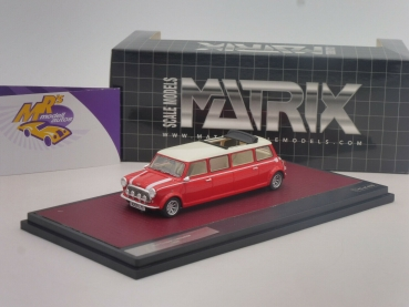 "Matrix 30110-031 # Mini Cooper Limousine Langversion Baujahr 1995 "" rot-weiß "" 1:43"