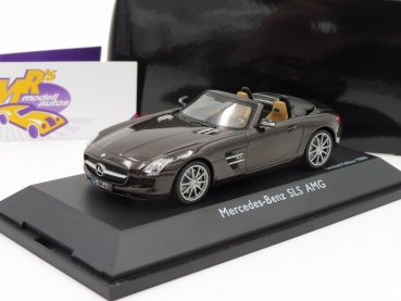 "BLACK-Deal ###  Schuco 07456 # Mercedes Benz SLS AMG Roadster ( A197 ) Baujahr 2012 in "" dunkelbraunmetallic "" 1:43"