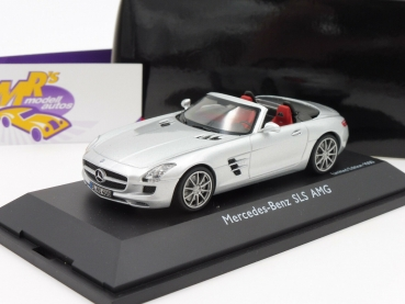 "BLACK-Deal ###  Schuco 07457 # Mercedes Benz SLS AMG Roadster ( A197 ) Baujahr 2012 in "" silbermetallic "" 1:43"