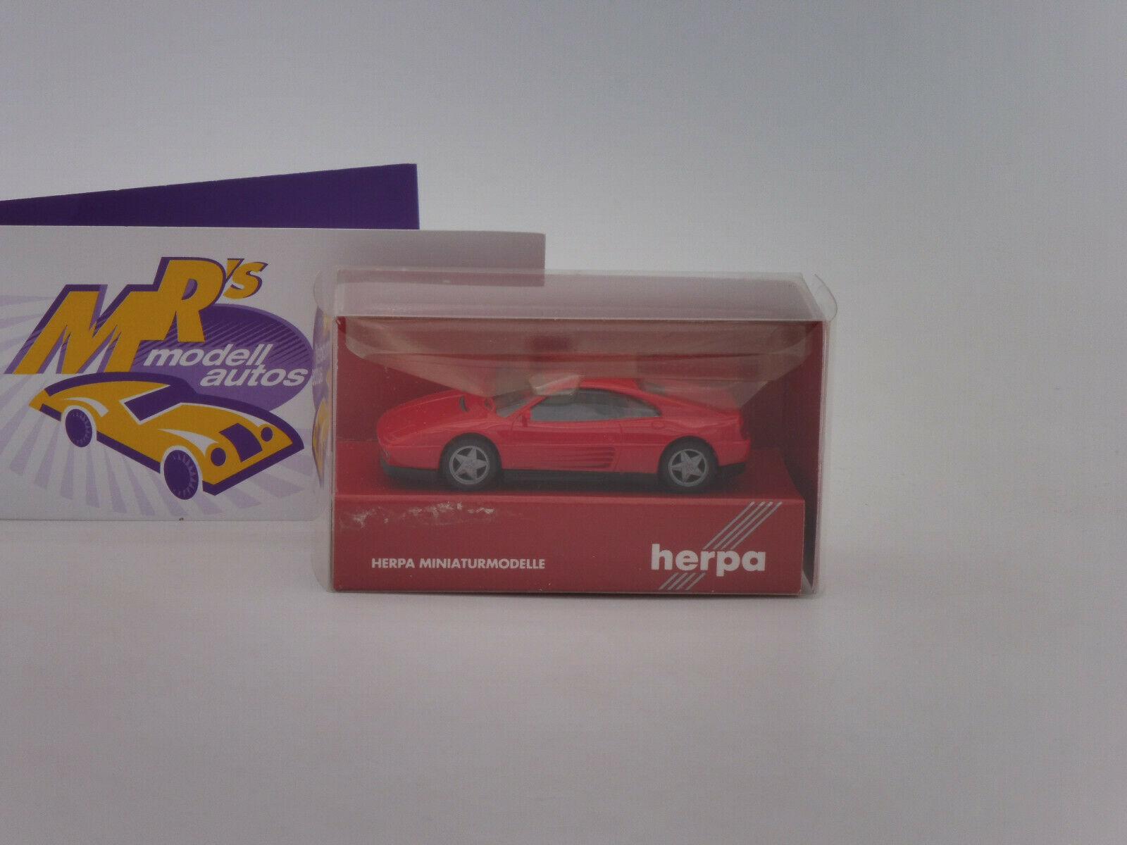 """Ferrari 348tb in /"""" rot /"""" 1:87 NEU Herpa 025256"""