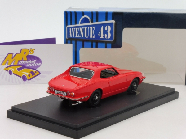 "Autocult Avenue 43 60026 # Saab Catherina GT Coupe Baujahr 1964 in "" rot "" 1:43"
