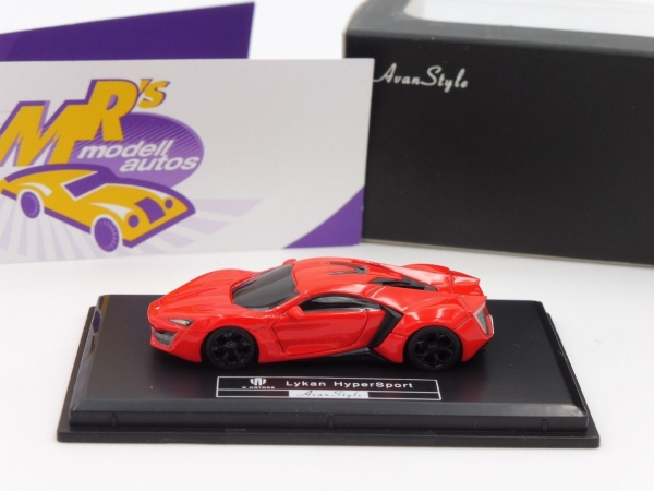 "FrontiArt AS015-06 - Fenyr Supersport (W Motors) Baujahr 2017 in "" rot "" 1:87"