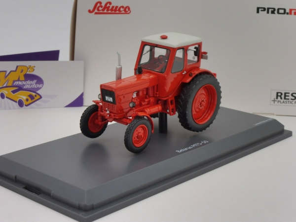 "Schuco PRO.R 09069 # Belarus MTS-50 Traktor Baujahr 1961 in "" orange "" 1:43"